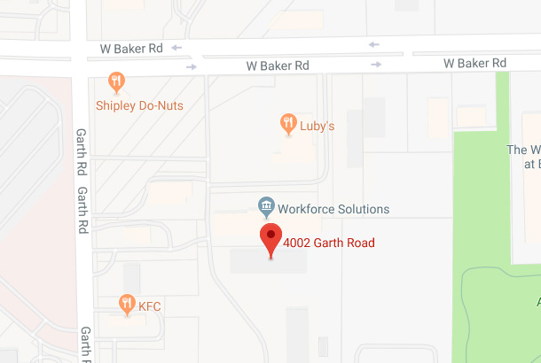 Map of 4002 Garth Rd., Baytown, TX 77521